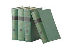 Livres avec le cache vert Image libre de droits
