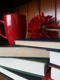 Livres avec le thé Photo libre de droits