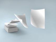 Livres blancs illustration de vecteur