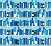 Livres bleus Photo stock