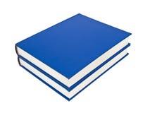 livres bleus Image libre de droits