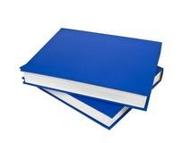 livres bleus Photographie stock libre de droits