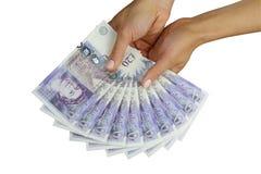 Livres britanniques d'argent BRITANNIQUE Photographie stock