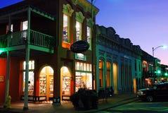 Livres carrés, Oxford la nuit image stock
