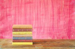 Livres colorés Photo stock