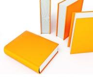 Livres colorés d'isolement sur le fond blanc Photo stock