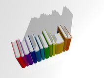 Livres colorés I Photo stock