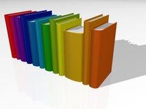 Livres colorés II Photos stock