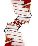 Livres colorés sur le blanc Image stock