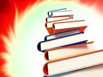 Livres colorés sur le fond Photos libres de droits