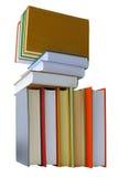 Livres colorés sur le fond blanc Image stock