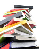 Livres colorés sur le fond blanc Photos libres de droits