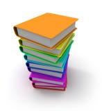 Livres colorés Image stock