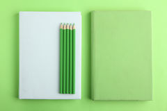 Livres, crayons Photographie stock libre de droits