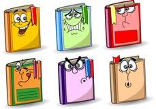 Livres d'école de dessin animé, vecteur Photo libre de droits