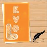 Livres d'amour de Saint-Valentin avec le fond de plume Photographie stock