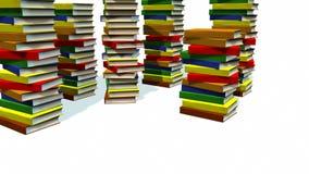 livres 3d empilés banque de vidéos