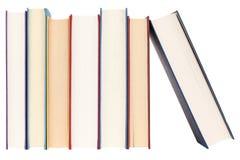 Livres dans une ligne Photographie stock