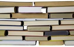 livres dans une ligne d'isolement Photo stock