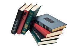 Livres dans une ligne, tous les livres reliés Photo stock