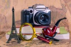 Livres de bases de préparations de voyage image libre de droits