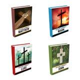 Livres de bible - évangiles illustration stock