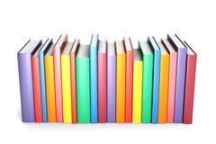 Livres de couleur dans la ligne Image libre de droits