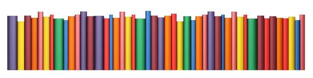 Livres de couleur dans la ligne Photographie stock libre de droits