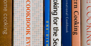 Livres de cuisine Photographie stock libre de droits