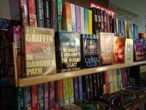 Livres de fiction sur l'affichage Photographie stock libre de droits