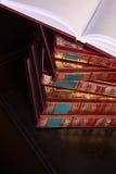 Livres de livre À couverture dure Photos stock