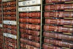 Livres de loi de Chambre de cour photographie stock