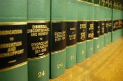 Livres de loi sur le divorce Photos stock