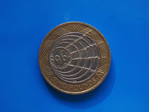 2 livres de pièce de monnaie, Royaume-Uni Photos libres de droits