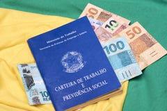 Livres de travail ou travail brésiliens de document Photos stock