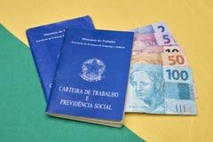 Livres de travail ou travail brésiliens de document Image libre de droits