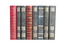 Livres de vintage dans une rangée Image stock