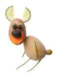 Lièvres drôles faits de légumes Photographie stock libre de droits