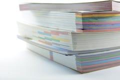 Livres empilés Image stock