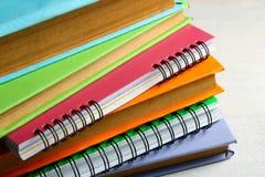 Livres et cahiers Photos libres de droits