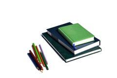 Livres et cahiers photo stock