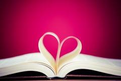 Livres et marque de coeur Photo libre de droits