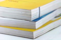 Livres et pages Photographie stock