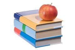 Livres et pomme photo libre de droits