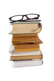 Livres et verres Images stock