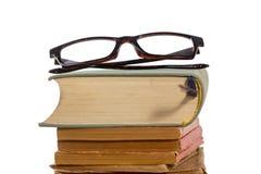 Livres et verres Image stock