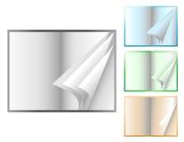 livres flippiing les pages ouvertes illustration de vecteur