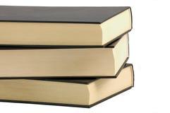 livres noirs Photographie stock libre de droits