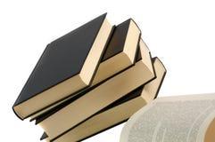 livres noirs cinq Images stock