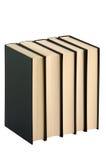 livres noirs cinq Photo stock